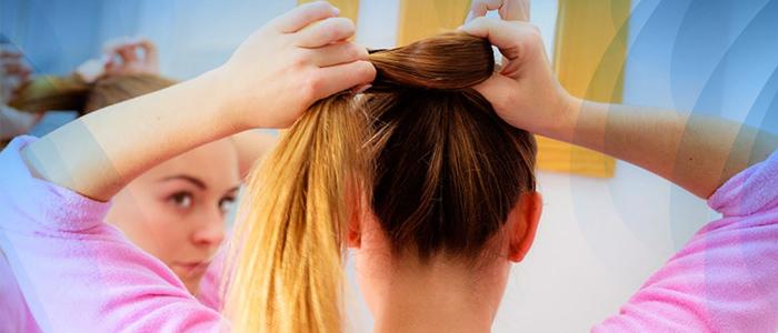 parar queda de cabelo urgente: não tracionar os fios